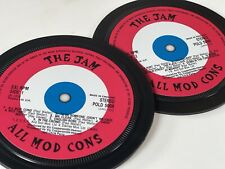 More details for the jam - 2 record label coasters. all mod cons. paul weller.