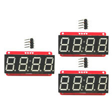 "3x 4 Digit 7-Segment 0.56"" LED Display Module Clock HT16K33 I2C for Arduino"
