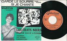 "LES CHATS NOIRS 45 TOURS 7"" BELGIUM YEYE GUITAR*"