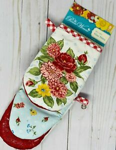 NEW The Pioneer Woman Sweet Rose Mini Oven Mitts Set Farmhouse Floral Decor