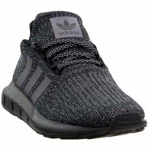 adidas Swift Run Lace Up    Kids Boys  Sneakers Shoes Casual   - Black