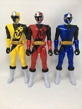 New listing Power Rangers Ninja Steel Yellow Ranger Blue Ranger Red Ranger Figures 12 Inch
