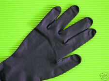 20 Disposable Black Gloves Latex Powder Free Tattoo Body Piercing SMALL SIZE