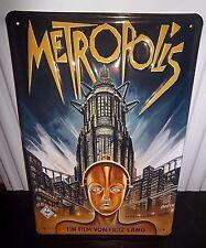 "METROPOLIS FILM (FRITZ LANG), EMBOSSED(3D) METAL ADVERT/ SIGN, 12""X 8"", 30X20cm"
