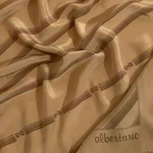 ALBERTARIO STRIPES BEIGE LARGE silk Scarf   33/36 in #A87