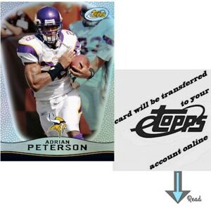 Adrian Peterson 2009 eTopps (Qty: 1) - transferred to your account