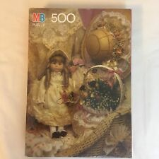 Vintage MB 500 PC Puzzle Croxley 1991 4611-6 Antique Doll in Lace New Sealed!