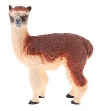 Realistic Alpaca Farm Yard Animal Model Figure Figurine Kid Toy Collectibles