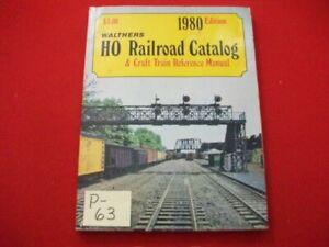 VINTAGE 1980 HTF WALTHERS HO RAILROAD CATALOG & CRAFT TRAIN REFERENCE MANUAL VGC