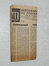 FRANCE FOOTBALL OFFICIEL HEBDOMADAIRE FFF N°443 14/09 1954