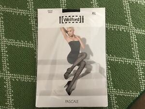 WOLFORD Pascale Tights black color  sz XL NWT $55