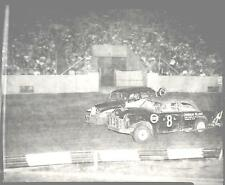 Original 4X5 Photo Negative Stock Car Race 1953 Soldier Field  Corner Rub 1141