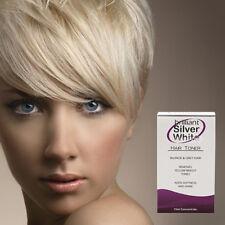 Brilliant Silver White - Magic Hair Toner for Platinum Blonde, Grey, White Hair