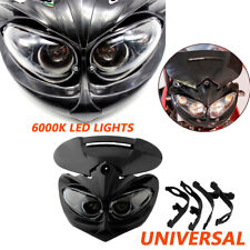 Universal Motorcycle Motocross 6000K Headlight Fairing Light Dual Street Fighter