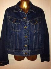 Women's Ms. Lee Vintage Riders Blue Jean Jacket Denim 9/10 Usa Trucker Coat Nice