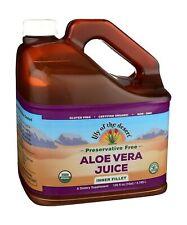 Dietary Supplement 128 fl. oz. Organic Aloe Vera Juice Inner Filler Gluten Free