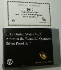 2012 U.S. Mint Silver Proof Quarter Set REPLACEMENT BOX, COA   ***NO COINS***
