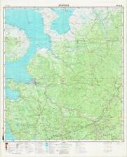 Russian Soviet Military Topographic Maps - ARKHANGELSK (Russia) ,1:1Mio, ed.1989