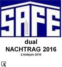 SAFE Dual Nachtrag 2016 Deutschland 2.Halbjahr Bundesrepublik Bund Vordruck 2214