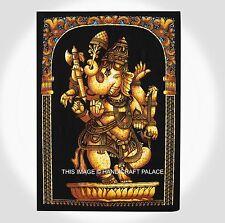 Indien Coton Batik Art Mural Danse Tapisserie Ganesha Tapisserie Mur Boho Pendai