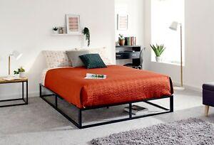 NEW GFW 5ft King Size Black Platform Bed Strong Metal Frame Modern Design