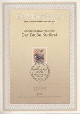 TIMBRE FDC ALLEMAGNE  BERLIN  OBL ERSTTAGSBLATT FREDERIC GUILLAUME 1988