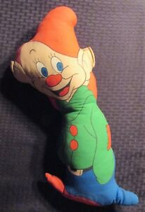 """Vintage DOPEY 19"""" Stuffed Plush Toy Doll VG 4.0 Snow White and the Seven Dwarfs"""