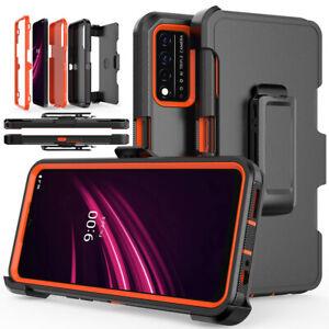 For T-Mobile REVVL V Plus 5G Case Shockproof Rugged Hard Cover With Belt Clip