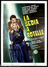 LA SEDIA A ROTELLE MANIFESTO CINEMA CATHERINE SPAAK GIALLO 1972 MOVIE POSTER 4F