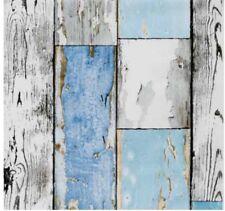 Klebefolie Holzdekor Möbelfolie Holz Scrapwood blau 0.45 m x 15 m selbstklebende