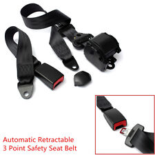 1X Auto Car 3 Point Seat Lap Belt Set Adjustable Retractable Diagonal Belt Nylon