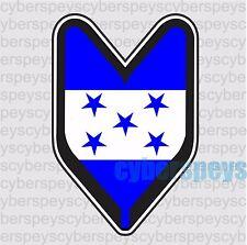 Honduras Flag Wakaba Leaf Design Car Vinyl Sticker Declas
