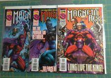 LOT (3) - Magneto Rex #1 2 3 Complete Set Marvel 1999 Series Run