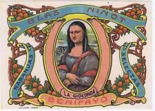 La Gioconda Mona Lisa  original Spanish Orange Crate label