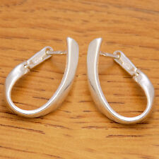 Elegant Gently 925 Sterling Silver Fancy Charm French Clip Hoop Stylish Earrings