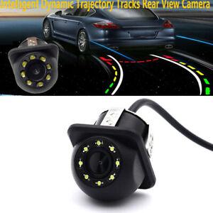 Car Back Up 8 LED Light Waterproof CCD Rear View Backup Camera Reverse Parking