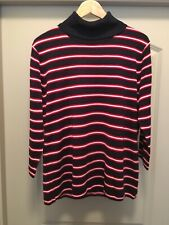 NWT Women's XL Tommy Hilfiger Turtle Neck 3/4 Sleeved Striped Sweater