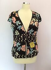 Silk V Neck Classic Floral Tops & Shirts for Women