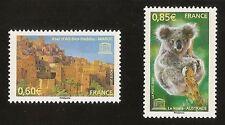 FRANCE 2007 - Timbres de Service UNESCO n° 138 et 139 NEUFS** LUXE MNH