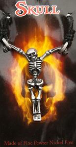 Collana Pendente a Croce Scheletro Teschio IN Etain-Cross Skull 6745-D8B