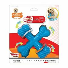 Nylabone Power Chew Beef Flavored Large X Bone for Dogs up to 50 Pounds
