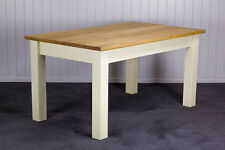 New Shabby Chic Painted Pine Shaker 4'6 x 3' Farmhouse Dining Table
