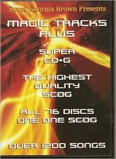 Magic Tracks Karaoke Super CD+G 1200 Songs Plays on CAVS or Windows System SGB