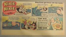 "Kix Cereal Ad: ""Kixie and Nixie""  from 1930's-1940's 7.5 x 15 inches"