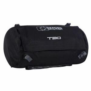 Oxford Drystash T30 Waterproof Motorcycle Roll Bag Tail Pack Bike Tail Bag Black