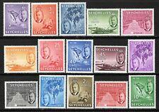 Seychelles KGVI  1952 Set SG158-72 MNH
