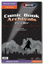 """BCW Silver Age 4 Mil Mylar Comic Book Bags (7 1/2"""" x 10 1/2"""") - Qty. 250"""