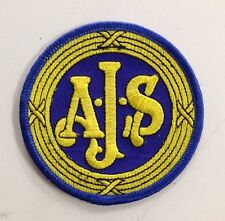 A.J.S. AJS CLOTH PATCH OHC 350CC 500CC 7R V4 PORCUPINE SILVER STREAK MATCHLESS