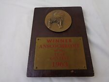 Vintage 1963 Anscochrome Winner of the Year Contest Plaque