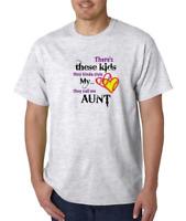 Gildan Short Sleeve T-shirt Sports Softball So There's Kids Stole Heart Aunt